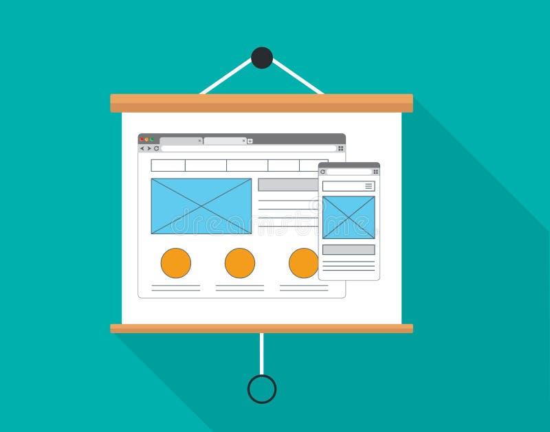 Ux用户经验介绍委员会设计 向量例证