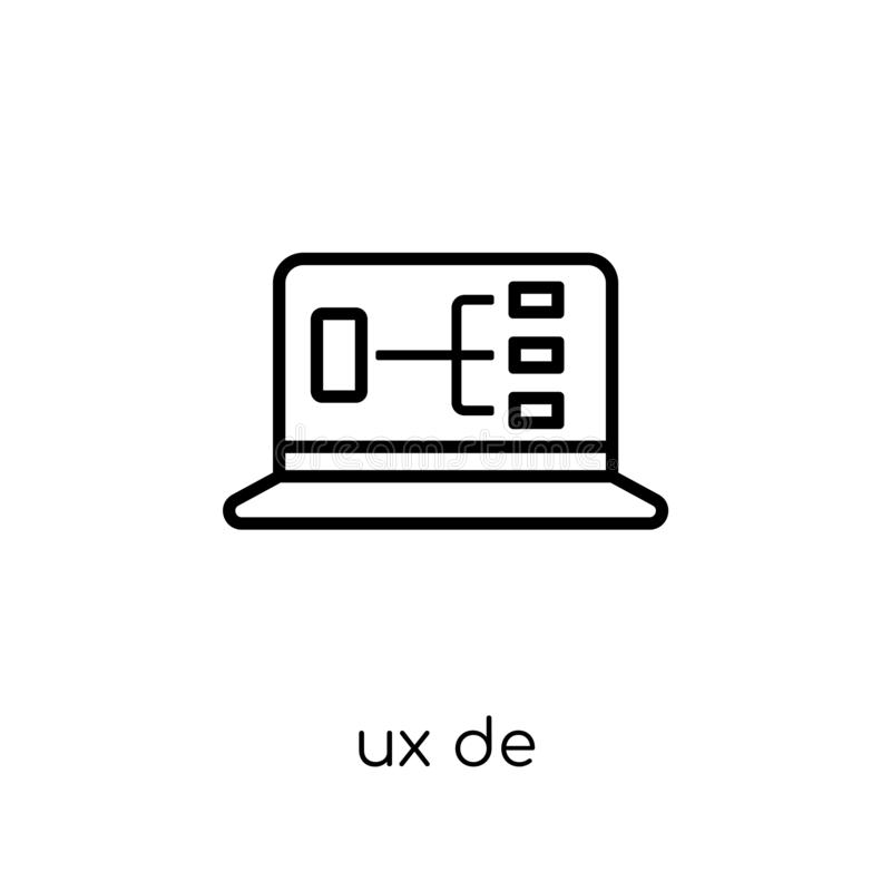 UX Design icon. Trendy modern flat linear vector UX Design icon. On white background from thin line Programming collection, editable outline stroke vector royalty free illustration