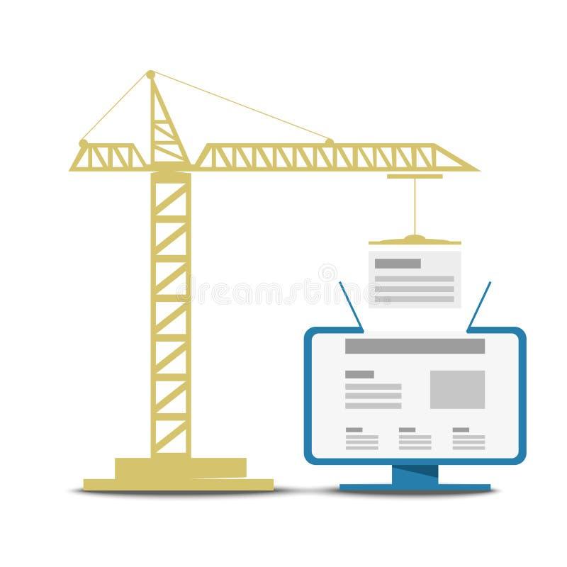 UX-ontwerp, informatiearchitectuur, SEO Bouw van Web-pagina's stock fotografie