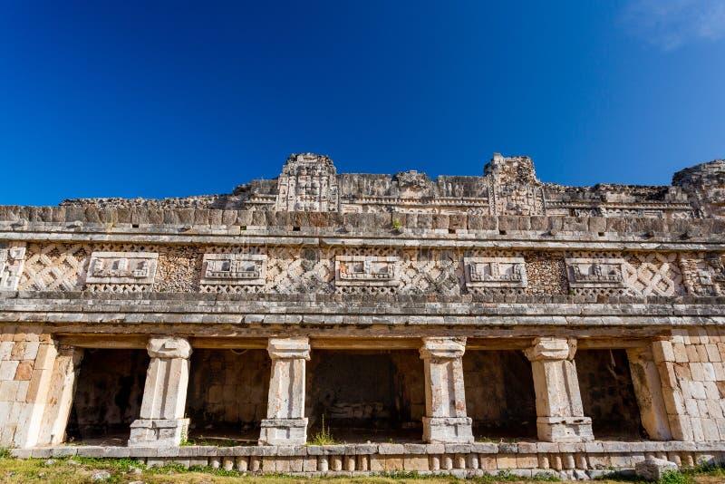 uxmal的墨西哥 女修道院四边形 免版税库存照片