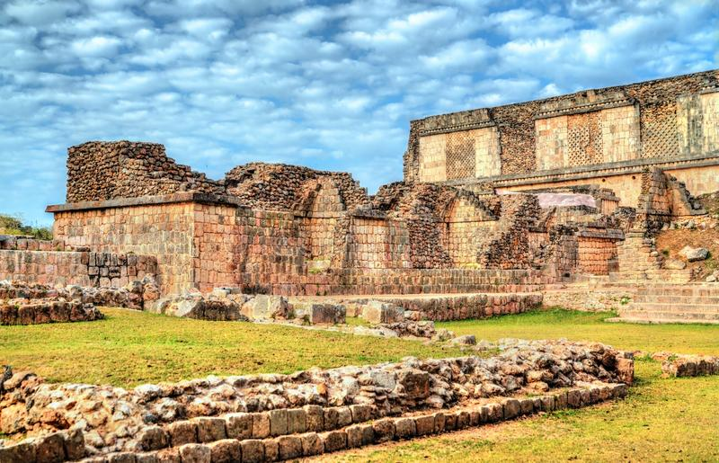 Uxmal, an ancient Maya city of the classical period in present-day Mexico royalty free stock photo