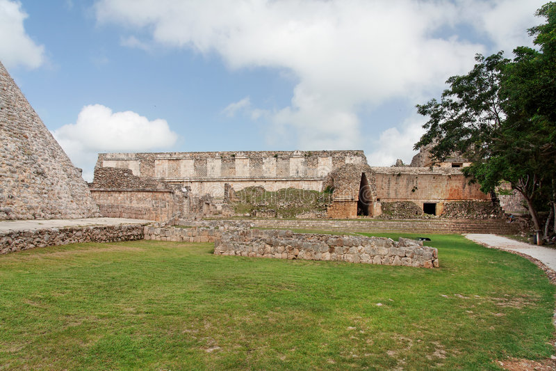 Uxmal Archaeological Site Yucatan Mexico stock photography