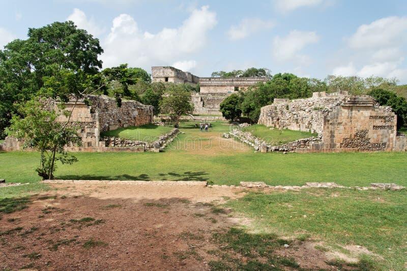 Uxmal Ball Game Yucatan Mexico stock photos