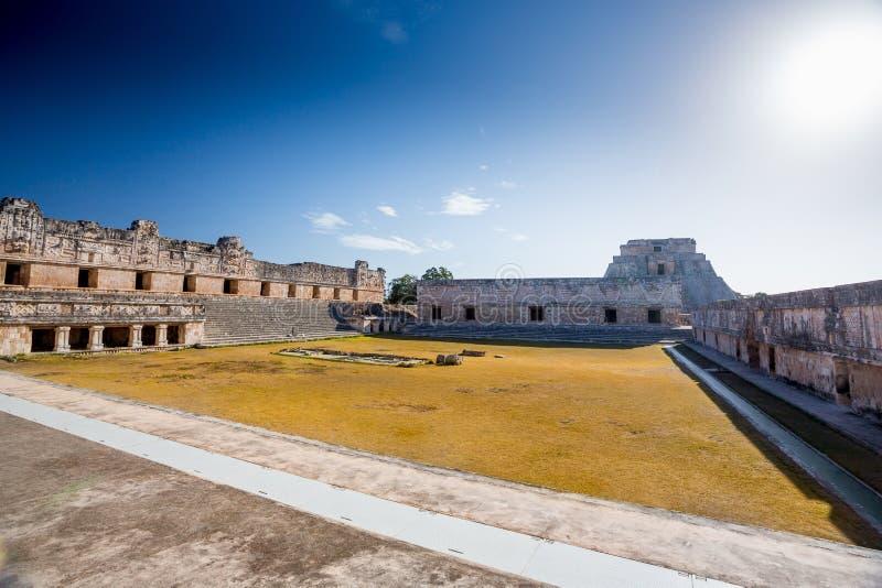 Uxmal, México Cuadrilátero del convento de monjas fotos de archivo