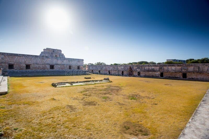 Uxmal, México Cuadrilátero del convento de monjas foto de archivo libre de regalías