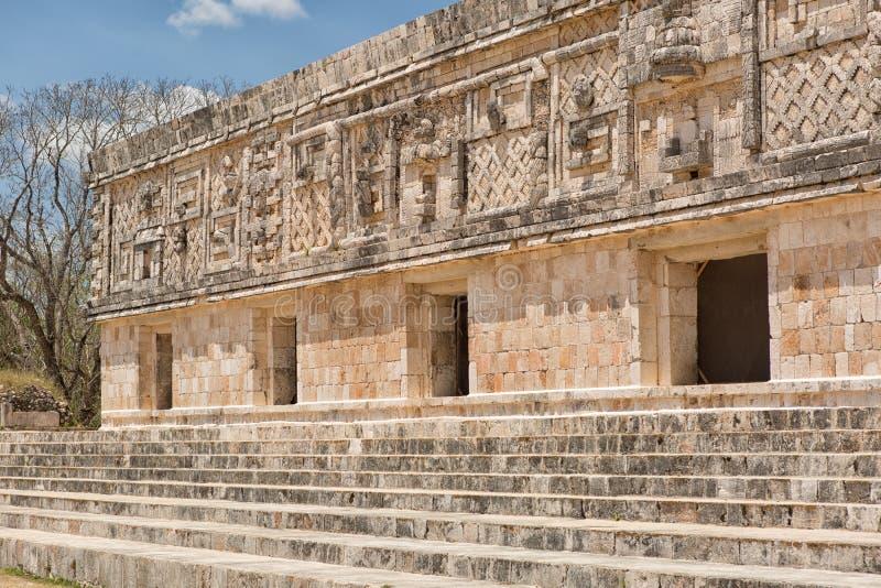 Uxmal majskie ruiny Meksyk obraz stock