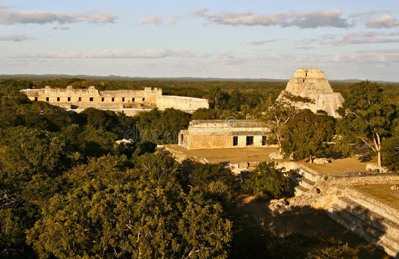 Uxmal Mayan Pyramids, Yucatan, Mexico stock photos