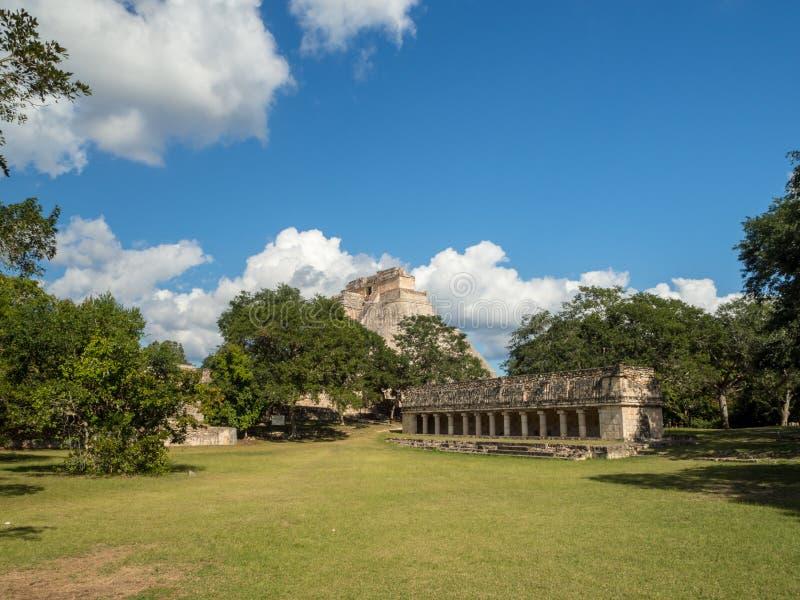 Uxmal, Merida, México, América [ruínas arqueológicos da pirâmide do local de Uxmal, destino do turista, Zapotec maia asteca india fotos de stock
