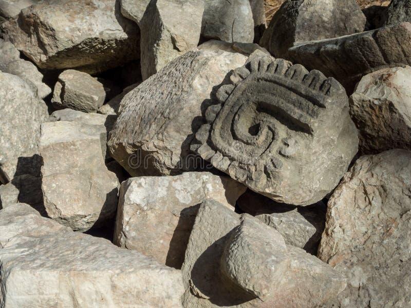 Uxmal, Merida, México, América [ruínas arqueológicos da pirâmide do local de Uxmal, destino do turista, Zapotec maia asteca india fotos de stock royalty free