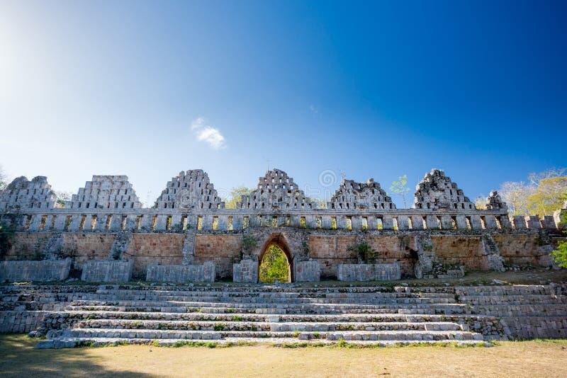 Uxmal, Messico, Camera dei piccioni fotografie stock libere da diritti