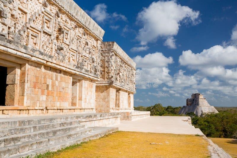 Uxmal, Messico Piramide del mago immagini stock
