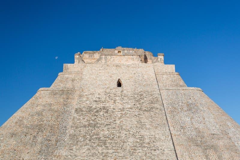 Uxmal, Messico Piramide del mago fotografia stock