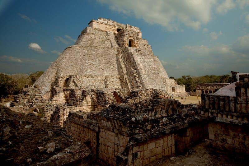 Uxmal, Mexico. Pyramid in Uxmal ruins, Mexico royalty free stock photography