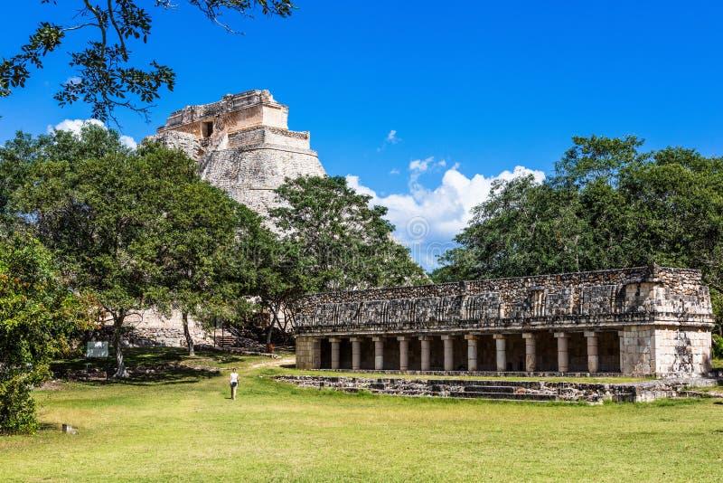 Uxmal, Mexico.  Ancient Maya city stock image