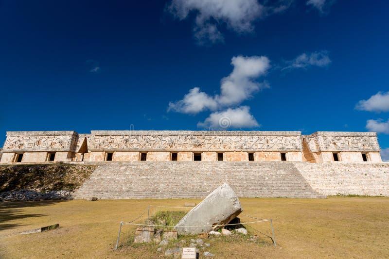 Uxmal, Mexico Gouverneur Palace royalty-vrije stock afbeeldingen
