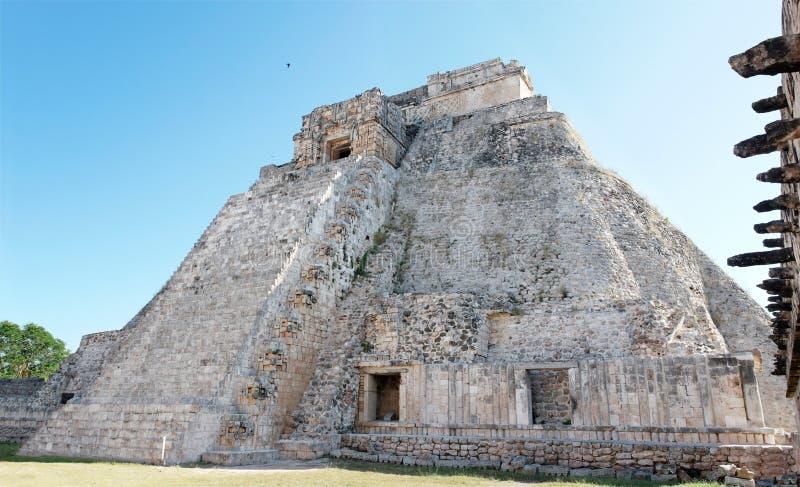 uxmal myan pyramid s för trollkarl arkivfoto