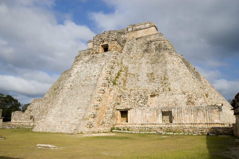 uxmal pyramid arkivbilder