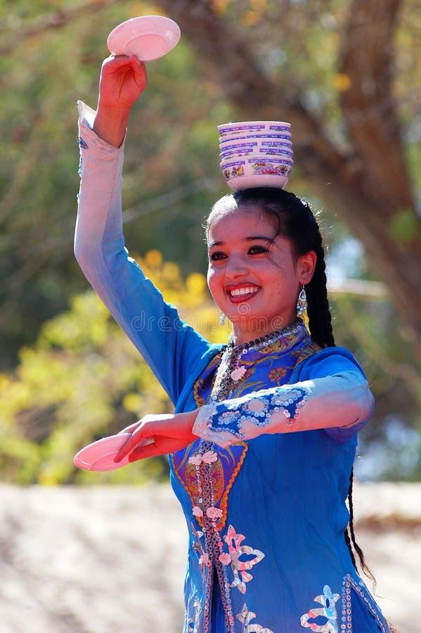 Uyghur dancer stock image