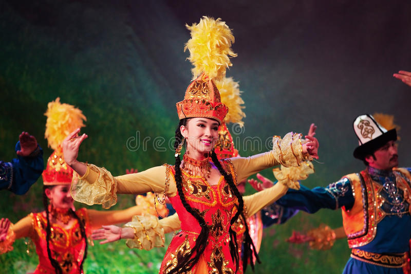 Uyghur Dancers Editorial Stock Photo