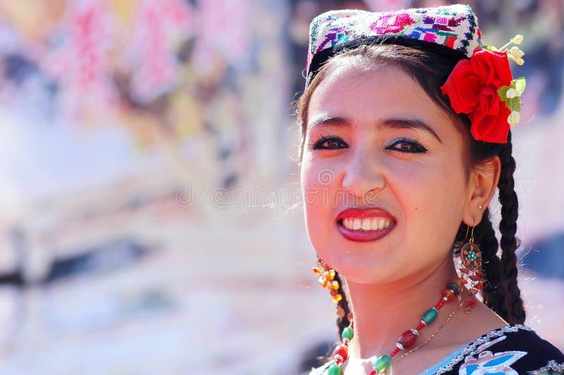 Uyghur girl stock images