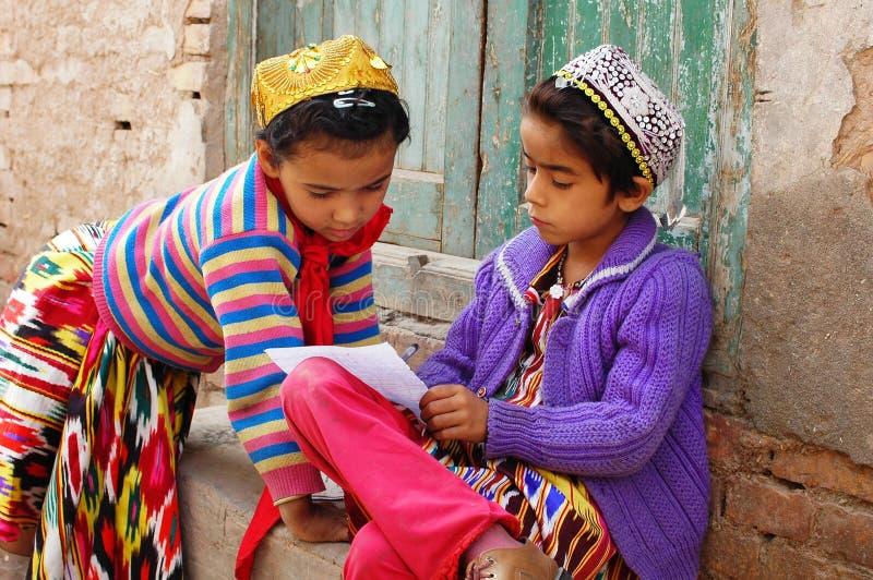 Uyghur girls stock photo