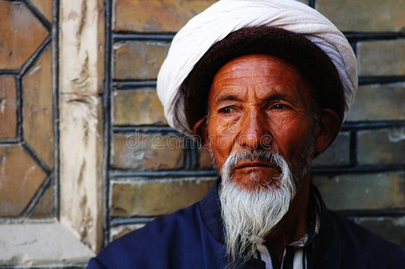 Uyghur old man royalty free stock images