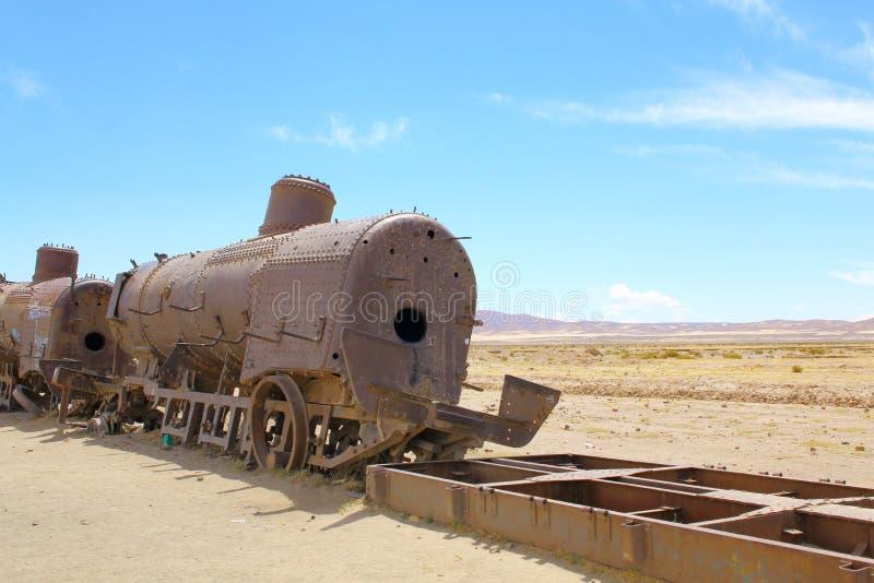 Uyuni, Bolivia. Rusty old steam locomotive stock photos