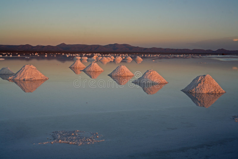 Uyuni Salt Lake Bolivia Stock Photos