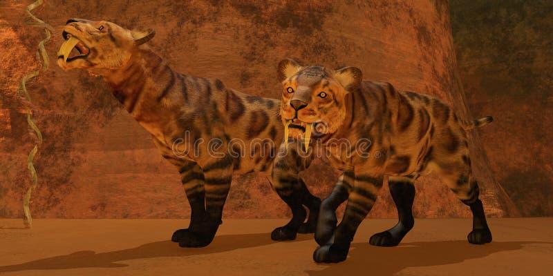 uzębiona Tygrysia jama ilustracja wektor