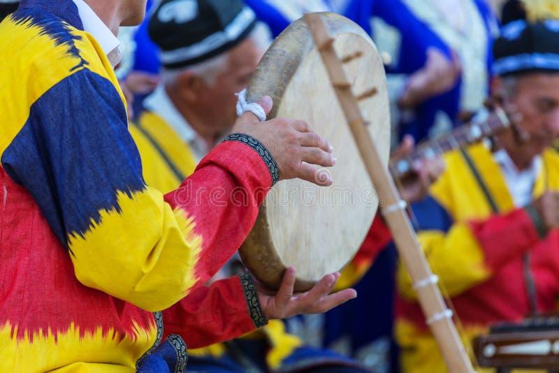 Uzbek folk music royalty free stock photo