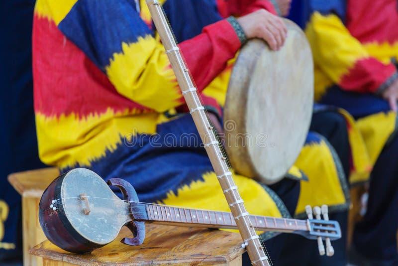Uzbek folk music stock image