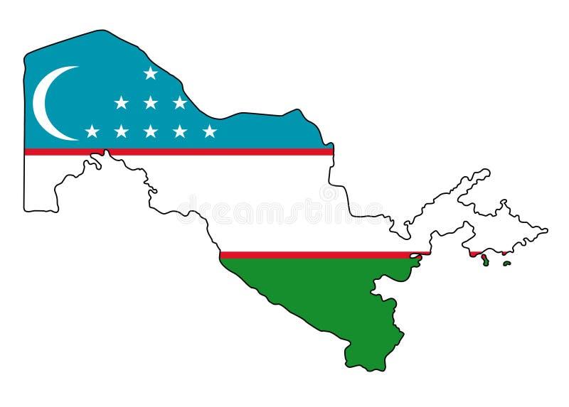 uzbekistan Carte d'illustration de vecteur de l'Ouzbékistan illustration libre de droits