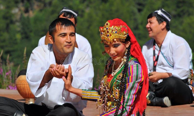 Uzbekistan Dance Group royalty free stock image