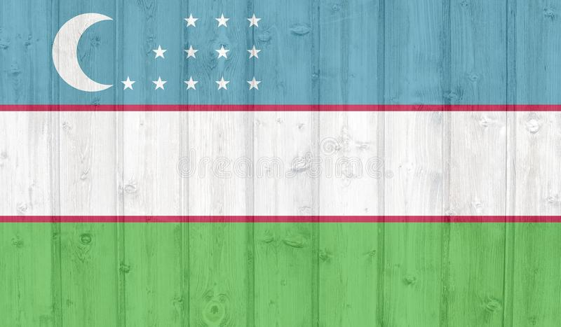 Uzbekistan flagga stock illustrationer
