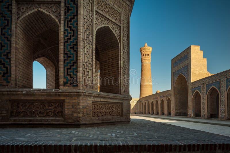 Uzbekistan. Inner yard of the complex of buildings of Poi Kalyan, Bukhara, Uzbekistan royalty free stock photos