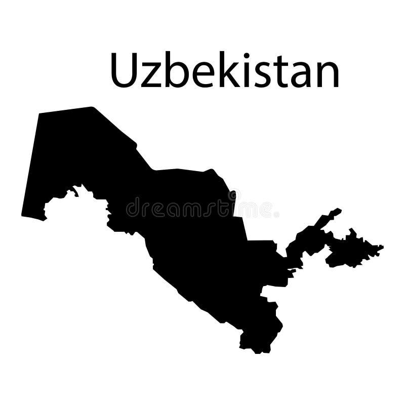 Uzbekistan map sign on a white background. Eps ten vector illustration