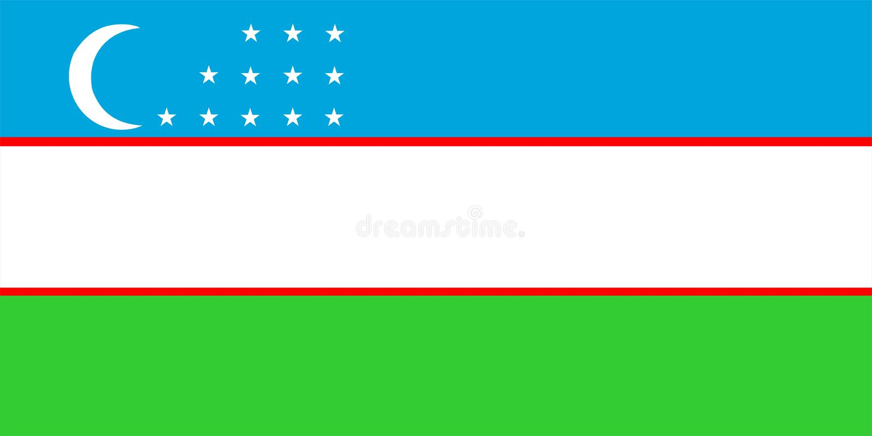 Uzbekistan-Markierungsfahne stock abbildung
