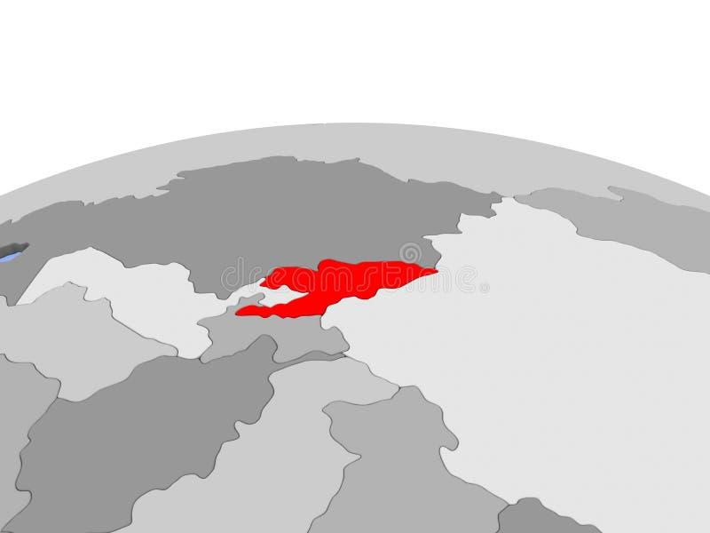 Uzbekistan na politycznej kuli ziemskiej ilustracji