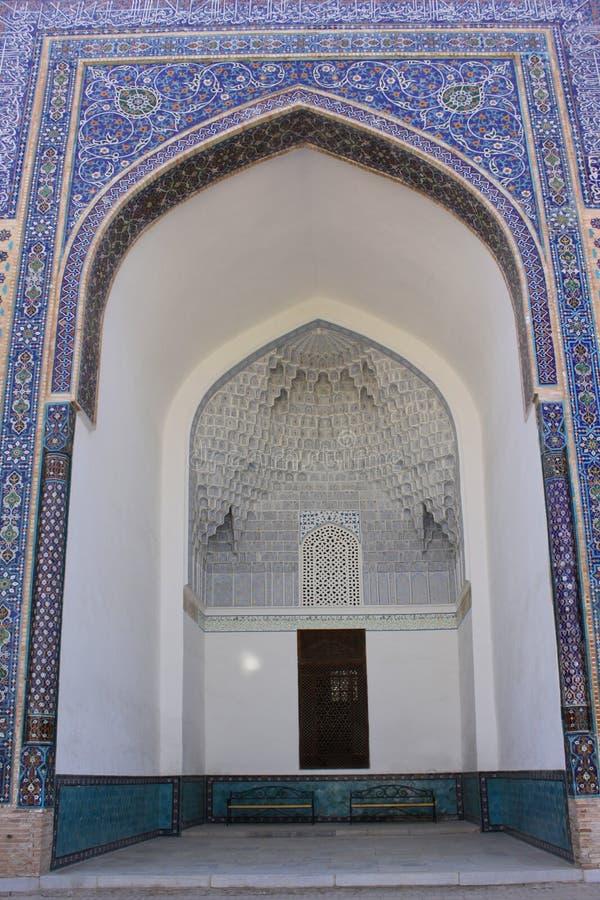 Uzbekistan Samarkand Gur-e Amir mausoleum decor stock photos