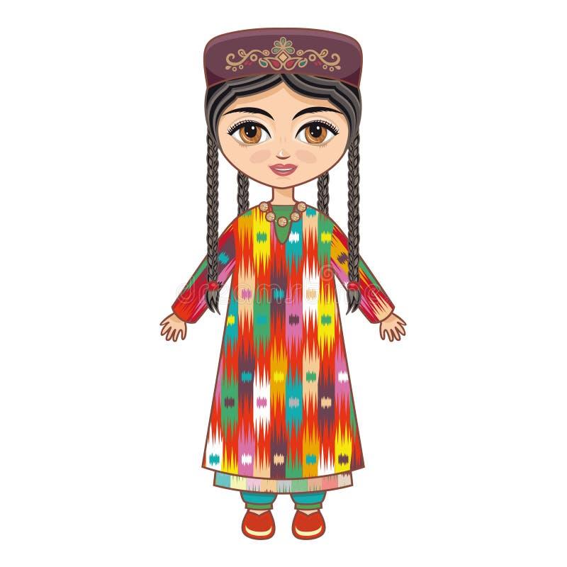 uzbekistan vêtx historique illustration de vecteur