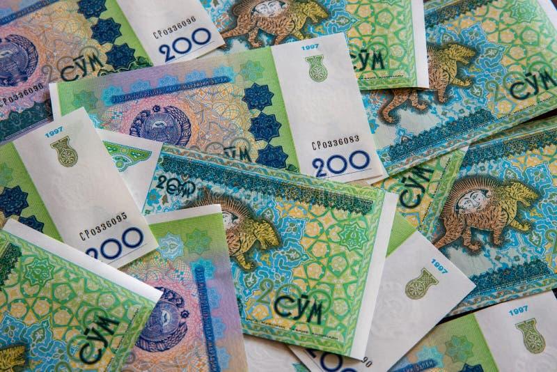 Uzbekistani tan 'm que pone completamente en la tabla imágenes de archivo libres de regalías