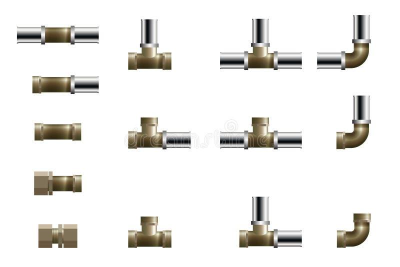Uzbrojenie rurociągu polipropylenowego ilustracja wektor