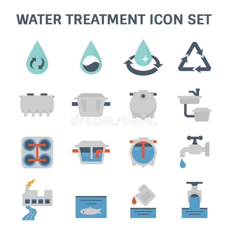 Uzdatnianie wody ikona royalty ilustracja