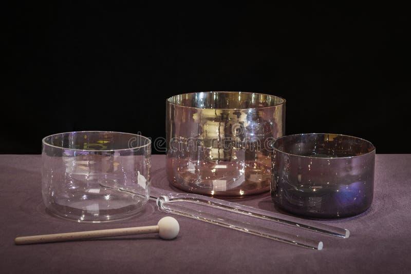 Uzdrawiający dźwięka - narzędzia dla rozsądnego traktowania zdjęcie royalty free