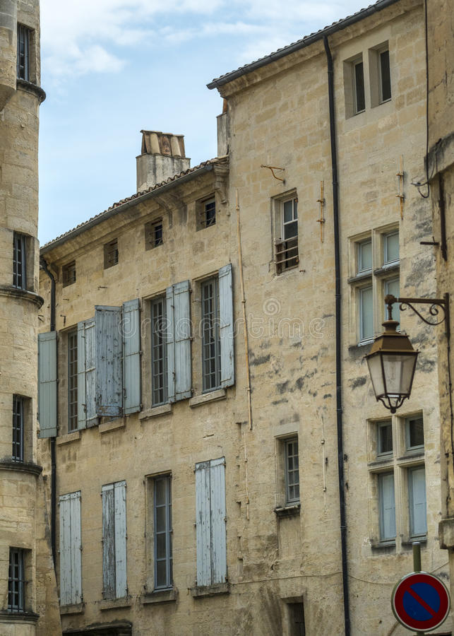 Download Uzes (France) stock photo. Image of window, color, french - 35429808