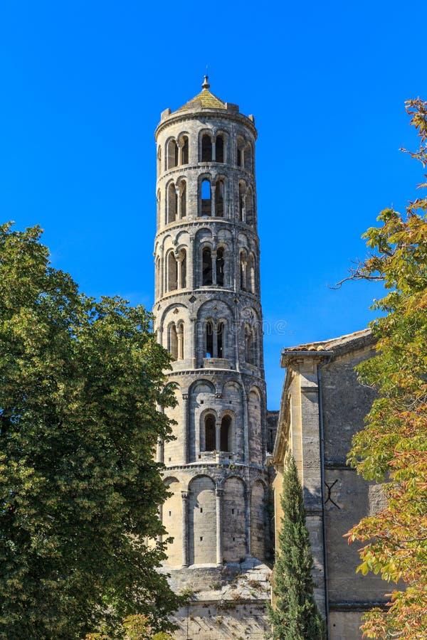 Uzes, tour de Fenestrelle image stock