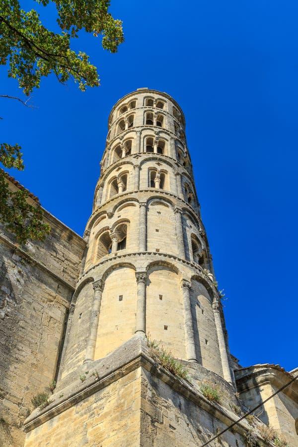 Uzes, tour de Fenestrelle, France image stock