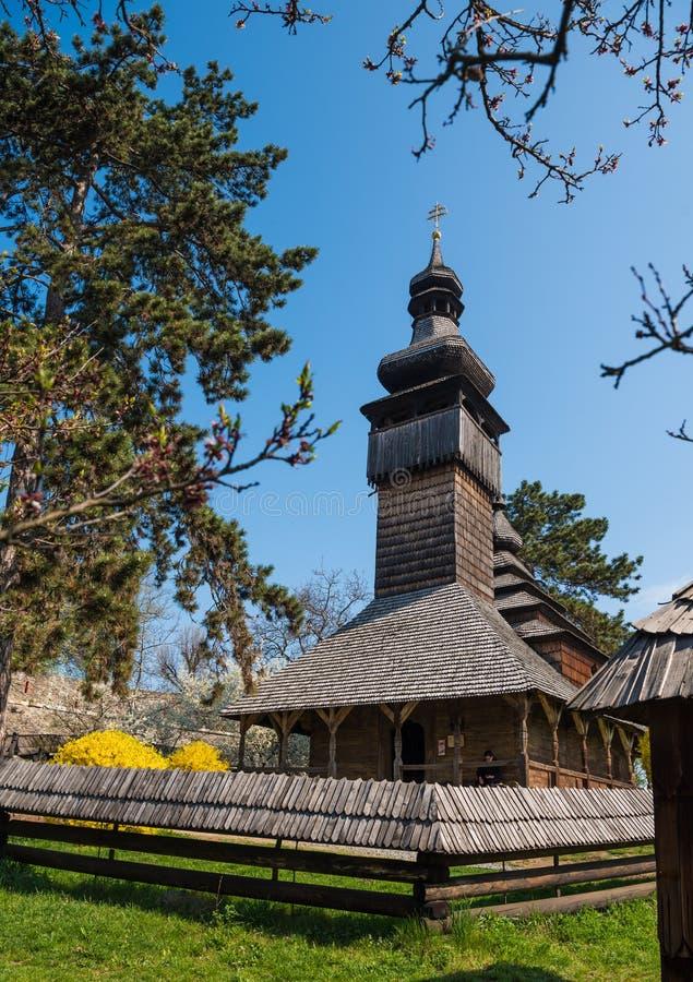Παλαιά ξύλινη εκκλησία σε Uzhgorod, Ουκρανία στοκ εικόνες με δικαίωμα ελεύθερης χρήσης