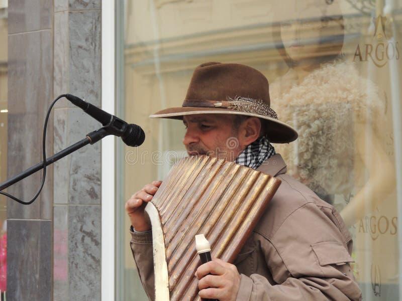 Uzhgorod Musicista della via immagini stock libere da diritti