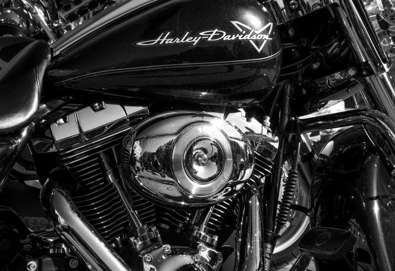 UZHHOROD, DE OEKRAÏNE - OKTOBER 13, 2018: Motorfiets Harley Davidson stock foto